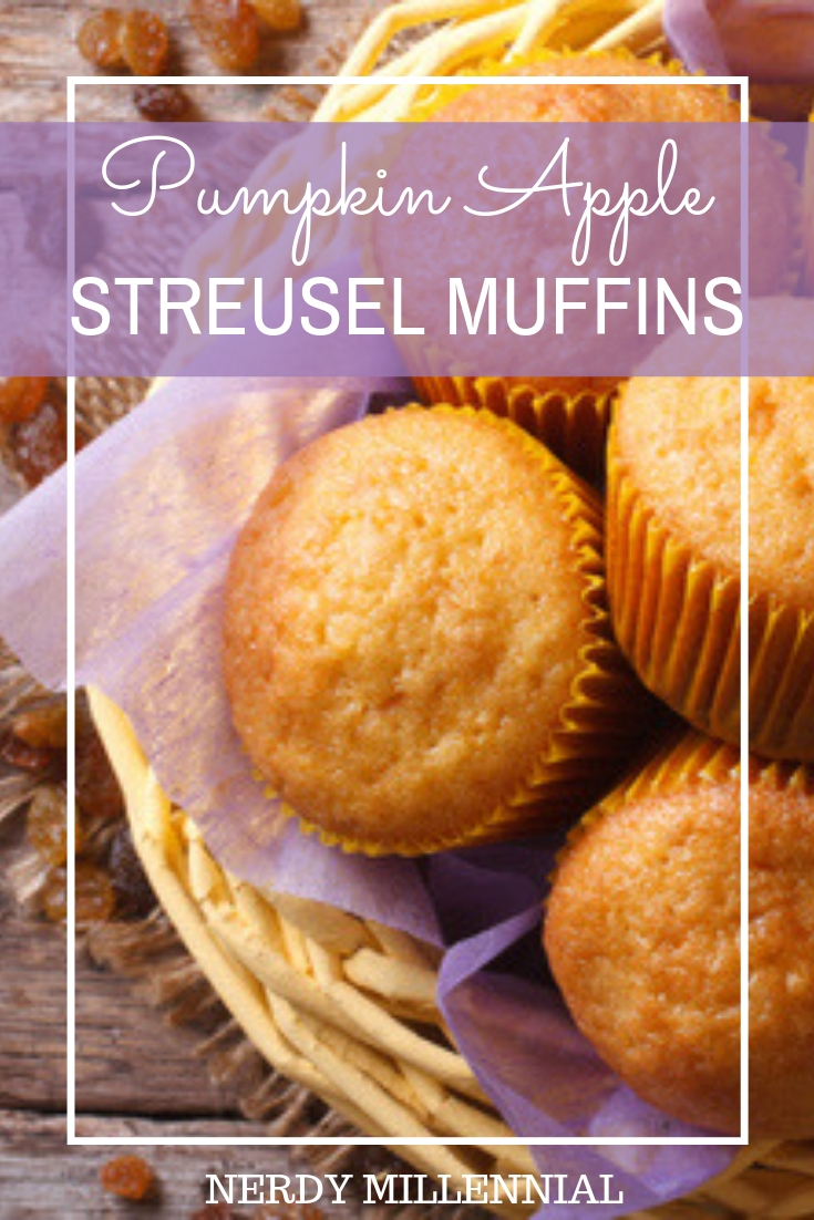 Pumpkin Apple Streusel Muffins - This recipe is a breakfast delight when shared with a hot cup of coffee or a cold glass of milk. I hope you enjoy it as much as we do.