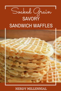 Are you looking for an easy soaked sandwich bread? This might be just the recipe for you! I created this soaked savory waffle bread recipe because I wanted something that would satisfy my family's craving for sandwiches, but still met the criteria for properly prepared grains.