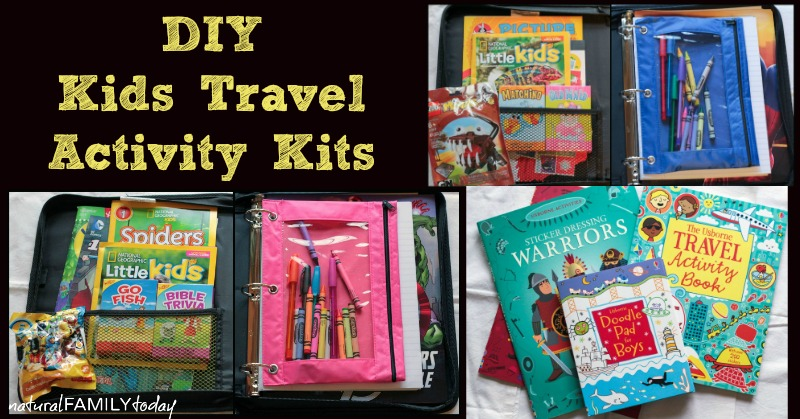 diy kids travel activity kits natural family today