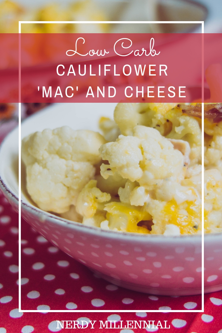 Low Carb Cauliflower 'Mac' and Cheese