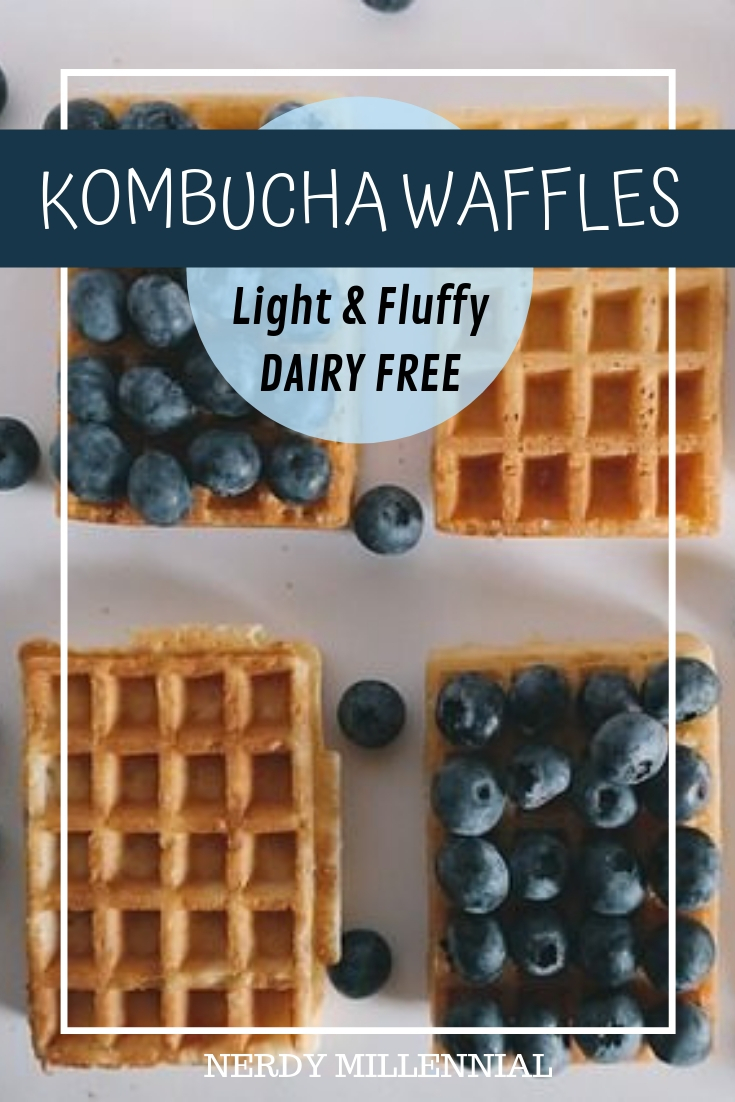 Light, fluffy waffles that don't stand a chance at remaining uneaten in your house! Kombucha waffles will fast become a favorite in your home.