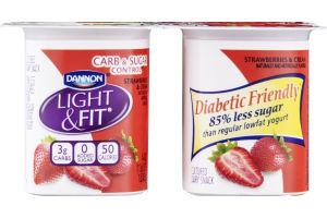 Dannon Light & Fit, Carb & Sugar Control