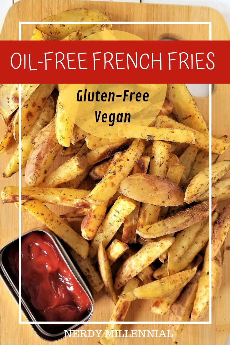 These oil-free french fries are a great example of the role that potatoes can play in a healthy diet. They're seasoned, oven baked, naturally gluten free, vegan, and plant based.