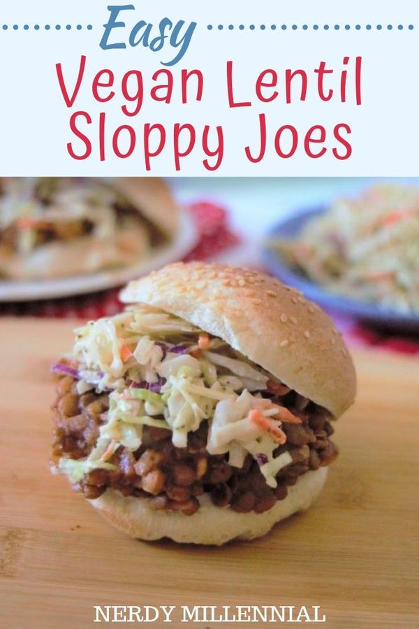 Who doesn't love the taste of a good sloppy joe? These easy vegan lentil sloppy joes are just as hearty and delicious as the original. I promise you, they'll 'hit the spot'.
