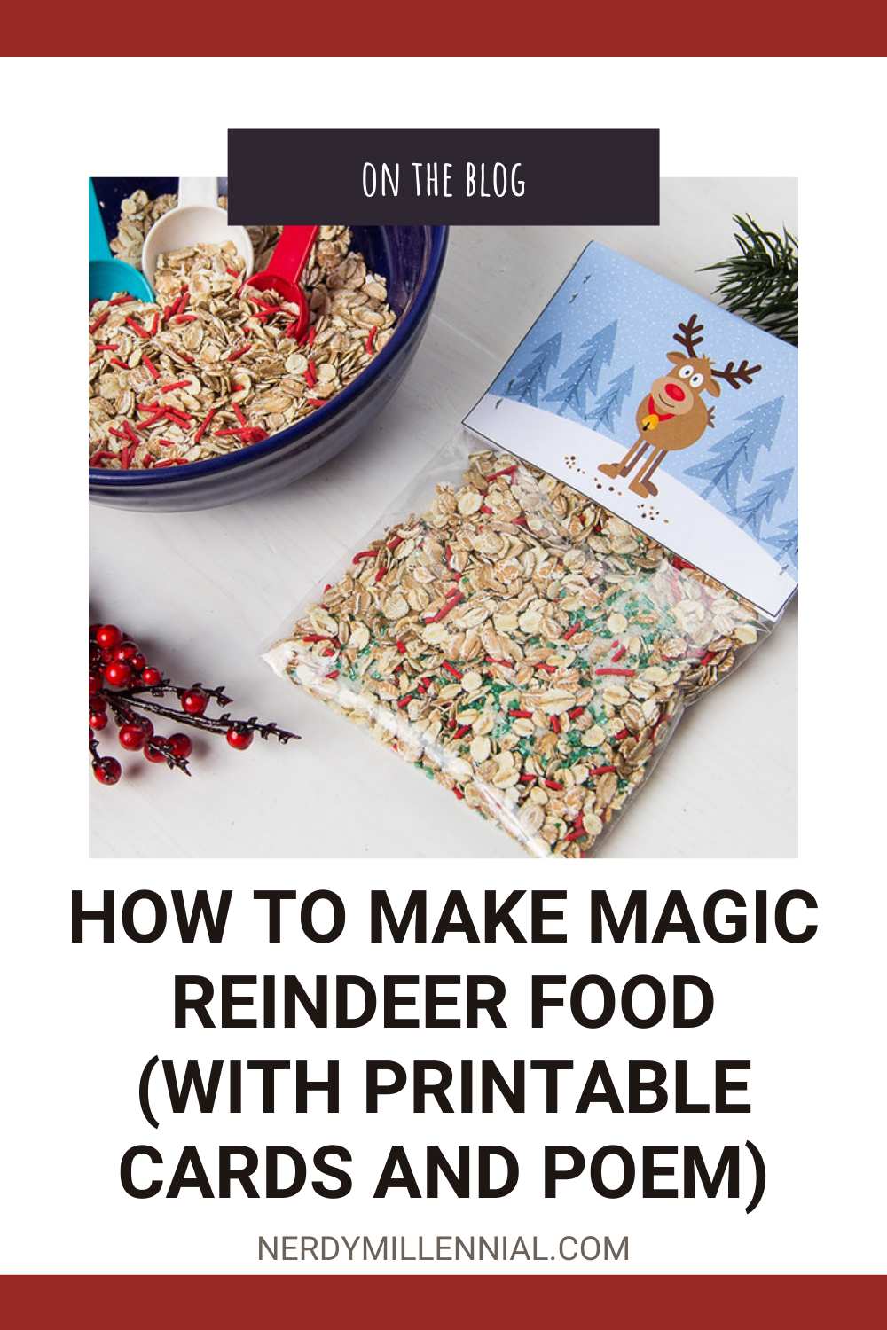 How to Make Magic Reindeer Food (With Printable Cards and Poem)